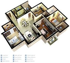 Floor Plans For Flats 25 Three Bedroom House Apartment Floor Plans