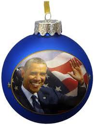 kurt adler president obama glass ornament c7533