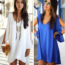 women summer dress 2015 new womens loose v neck