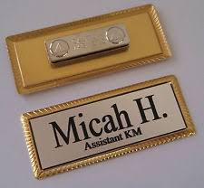gold name tag gold engraved name tag on gold metal frame 1 x 3 w magnetic badge