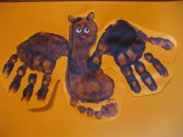 Halloween Bat Crafts by Hand And Footprint Bat
