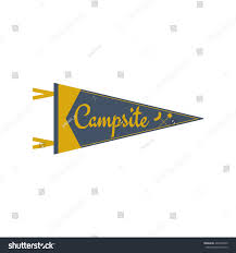 Football Flag Printing Adventure Pennant Campsite Pennant Explorer Flag Stock Vector