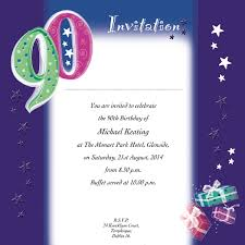 90th birthday invites choice image invitation design ideas