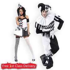 Couples Costume Harlequin Jester Couples Costume Halloween Clown Medieval