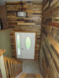 Front Entrance Foyer by My Bi Level Home Foyer With Pallet Wood Walls For The Home
