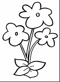 preschool flower coloring pages funny coloring