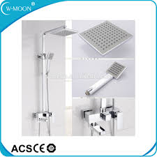 list manufacturers of modern shower set buy modern shower set bathroom luxury modern wall mounted brass rain shower mixer set