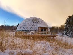 Geodesic Dome House How One Family Thrives In The Arctic With A Cob House Inside A