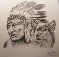 indian and wolf by dia yama073 on deviantart