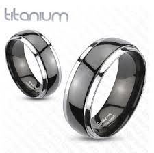 mens wedding rings uk mens black solid titanium 2 tone dome band ring engagement wedding