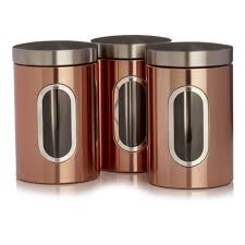 Copper Kitchen Canisters Wilko Tea And Coffee Canisters Copper Effect At Wilko Com