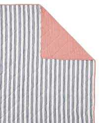 railroad stripe quilt sham shams serena and lily ticking bedding