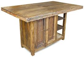 tall kitchen island table rustic wood tall kitchen island table with iron accents