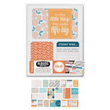 we r memory keepers albums we r tangerine journaling cards