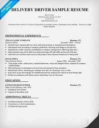 Delivery Driver Resume Examples by Sample Delivery Driver Resume