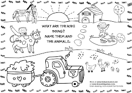 Coloring Page Animals Farm Baby Farm Animal Coloring Pages Farm Color Page