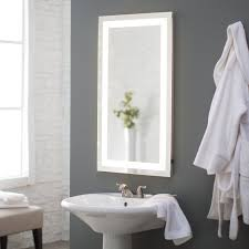 Led Bathroom Mirrors Paris Mirror Rectangle Bathroom Mirror With Led Backlights Hayneedle