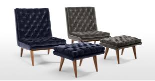 Cool Armchairs Spectre Armchair Navy Cotton Velvet Made Com