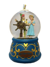 musical snow globe pan s flight pan wendy