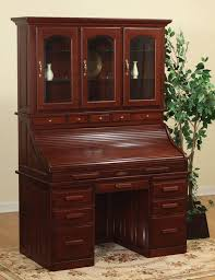 roll top desk with hutch top