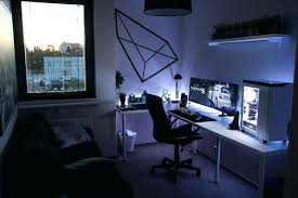computer room ideas gaming bedroom setup modern computer desk and bookcase designs ideas
