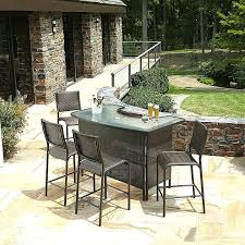 Bar Set Patio Furniture Patio Furniture Bar Height Collection Patio Bar Sets Outdoor Patio