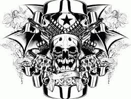 36 gangster skull tattoos