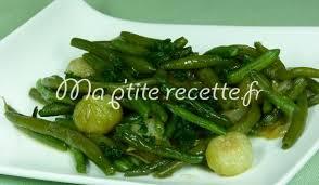cuisine haricot vert haricots verts aux oignons recette accompagnement haricot vert