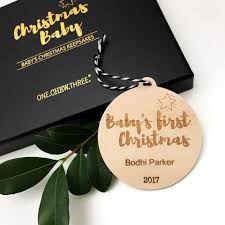 Baby S First Christmas Bauble Wholesale by Christmas Baubles Personalised Baby U0027s First Christmas U2013 One Chew