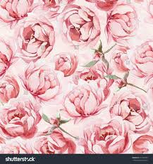 Image Of Spring Flowers by Seamless Pattern Watercolor Pink Rose Red Stock Illustration