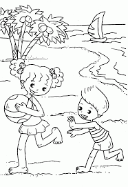 seashore coloring pages coloring home