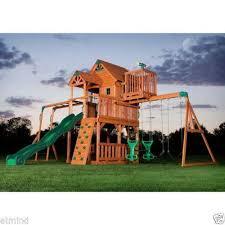 Wooden Backyard Playsets Swing Sets Wooden Metal Kids U0026 Backyard Ebay