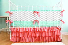 Pink Chevron Crib Bedding Interior Chevron Crib Bedding Solpool Info