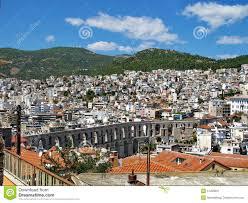 ancient roman aqueduct in kavala editorial photo image 57209691