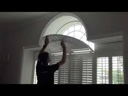 Arch Window Blinds That Open And Close Operating Shaped Window Shutters With A Curved Fan Top See How