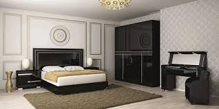 Black High Gloss Bedroom Furniture by Fame Modern Bedside Cabinets In High Gloss Black Finish