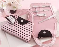 manicure set favors wedding favors pink polka dot purse manicure set bridal shower