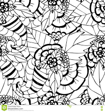 coloring pages for adults decorative hand drawn doodle nature