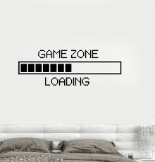 wall vinyl vinyl decal game zone computer gaming decor loading video game