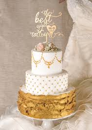 cake topper 01 gold ct