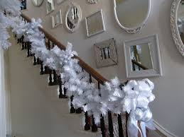 Decoration Staircase Christmas by White Christmas Holiday Decor