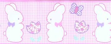 gingham pink bunny nursery wallpaper border wallpaper u0026 border