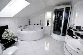 white home interiors stylish modern bathroom flooring ideas modern white tile bathroom