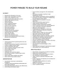 Resume Catch Phrases Power Words For Cover Letter Image Collections Cover Letter Ideas