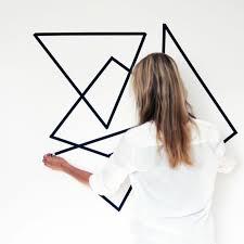 diy wandgestaltung geometrische formen tolle wandgestaltung mit farbe archzine net