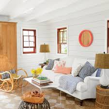 Coastal Living Room Design Ideas by Warm Coastal Living Room For Beach House White Color Theme