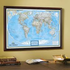 England On A World Map by Framed U0026 Laminated Wall Maps National Geographic Store