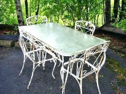 woodard wrought iron furniture wrought iron patio set sold woodard