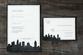 wedding invitations nyc nyc wedding invitation letter press swoon