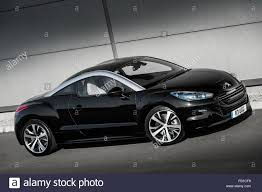 peugeot rcz 2017 black peugeot rcz coupe sports car stock photo royalty free image